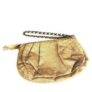 💯 Express Gitter Gold Wristlet Bag